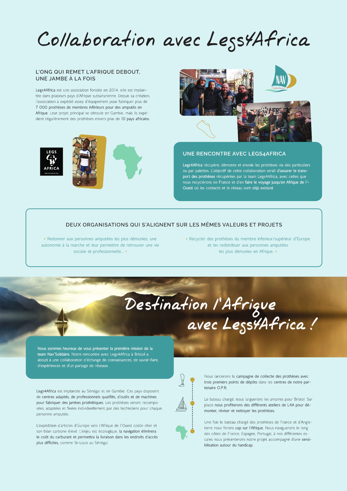Destination Afrique avec Legs4Africa