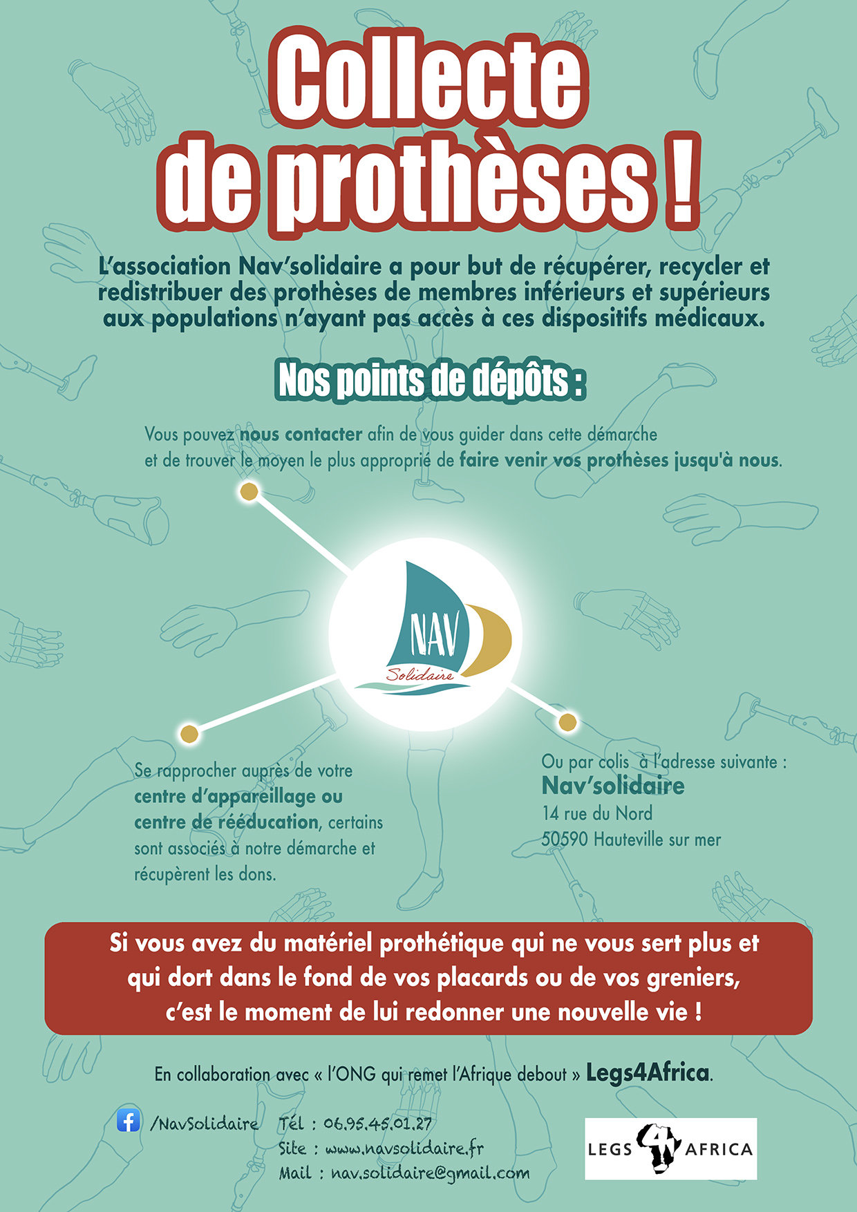 Affiche collecte de prothèses